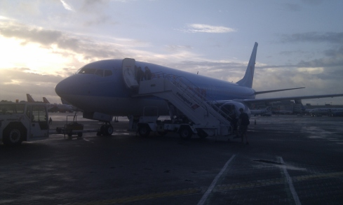 Thomson plane at Gatwick airport