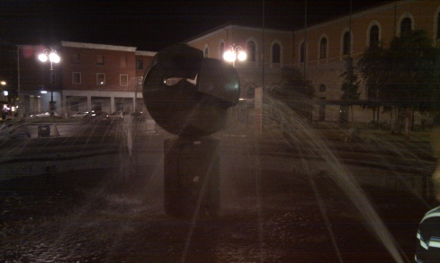 Water fountain in the main square