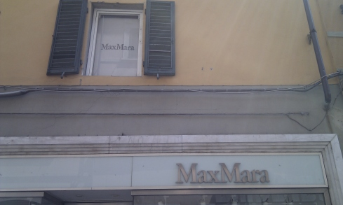 MaxMara shop in Pisa in Italy