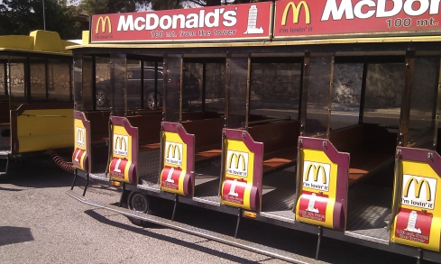McDonald's train through town