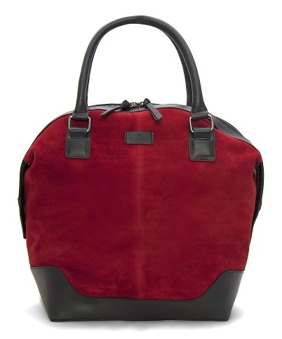 Mango TOUCH two-tone suede tote bag
