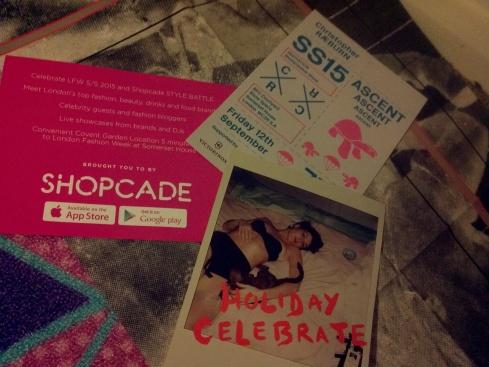LFW SS15 show invites: Sibling, Shopcade, Marios Schwab, Christopher Raeburn