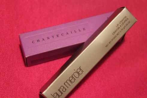 Chantecaille New stick foundation: Sun and Laura Mercier lip crayon: burnt clay