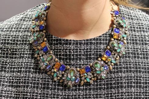Zara bejewelled necklace AW14