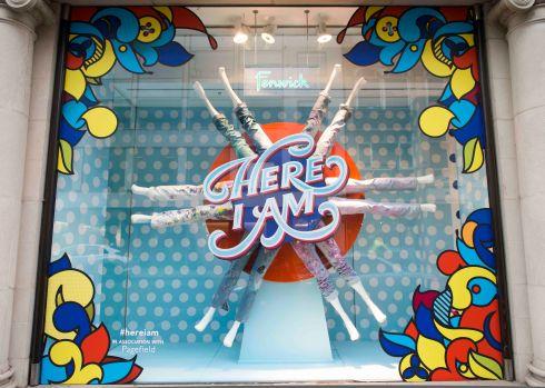 'Here I am' window display at Fenwick of Bond Street